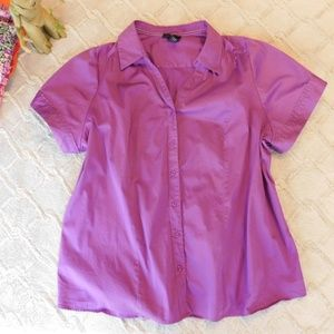 Lane Bryant Purple button down top, 28